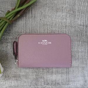 Coach Mini Zip Wallet / Coin Purse Dust Pink